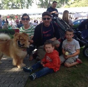 Vito and the family in the park Sept 2013